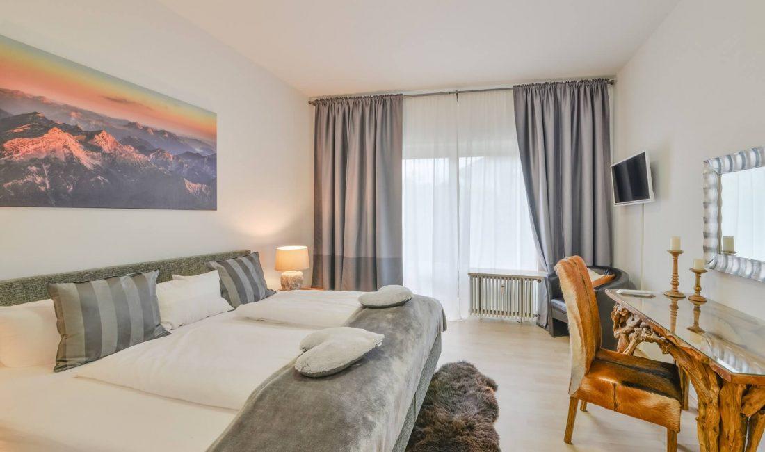 Schlafzimmer der Ferienwohnung Hausberg