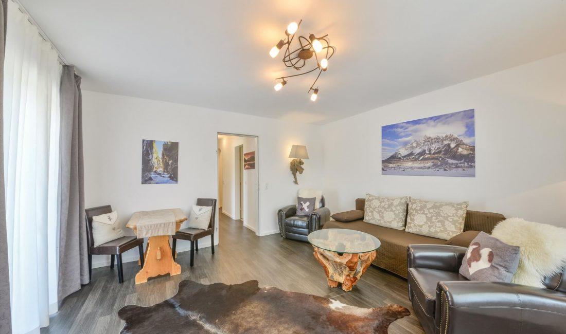 Wohnzimmer der Ferienwohnung Kramer