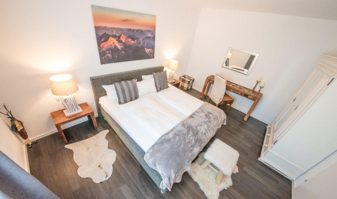 Schlafzimmer der Ferienwohnung Kramer