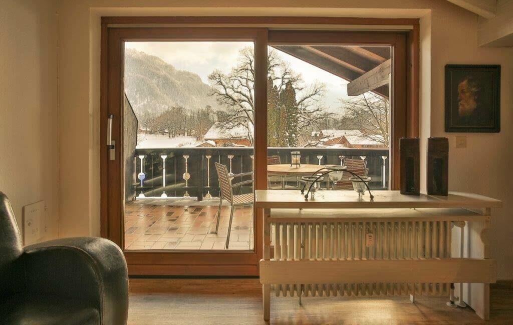 Alpen Deluxe Ferienwohnung Kofel Oberammergau Balkon